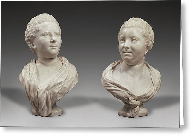 Busts Of Two Sisters Bust Of Mme. Brigitte François Greeting Card by Litz Collection
