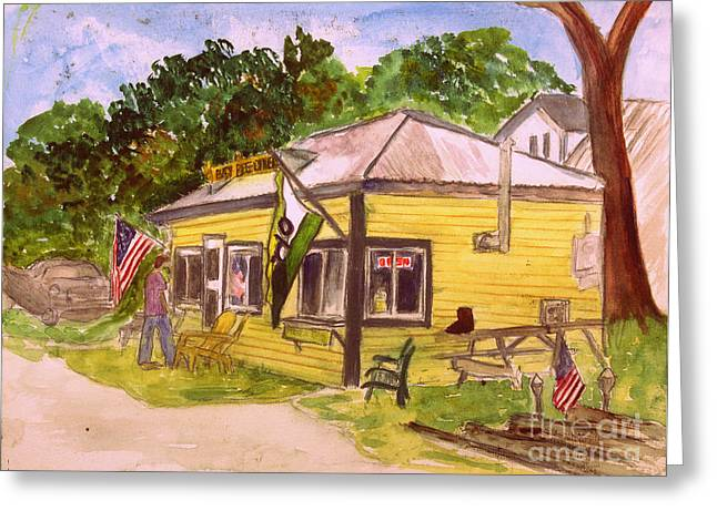 Busy Bee Restaurant In Glover Vt Greeting Card by Donna Walsh