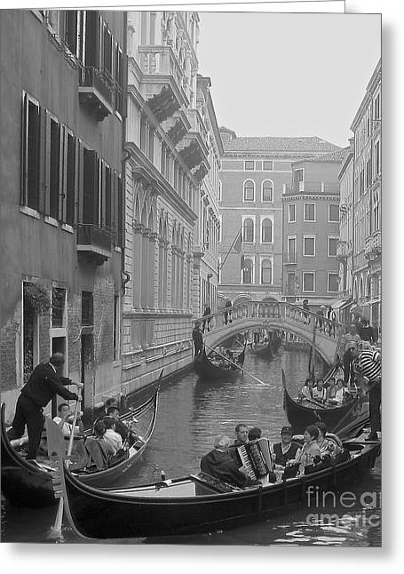 Busy Day In Venice Greeting Card