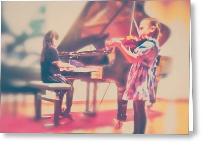 ...but They Made It! :)) #girl #concert Greeting Card