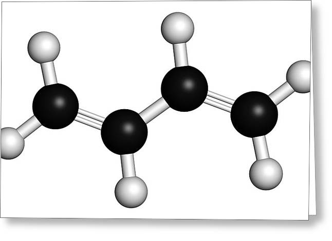 Butadiene Synthetic Rubber Molecule Greeting Card