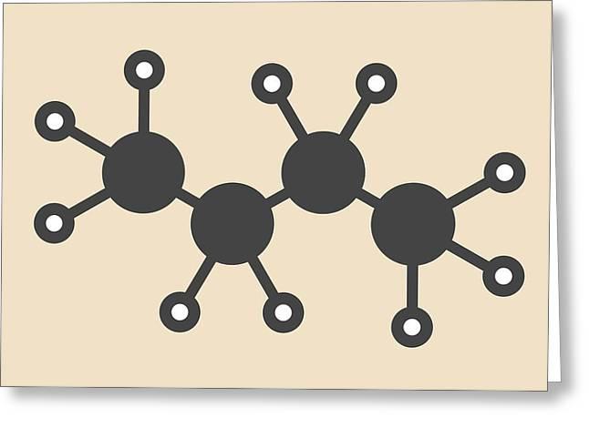 Butane Hydrocarbon Molecule Greeting Card
