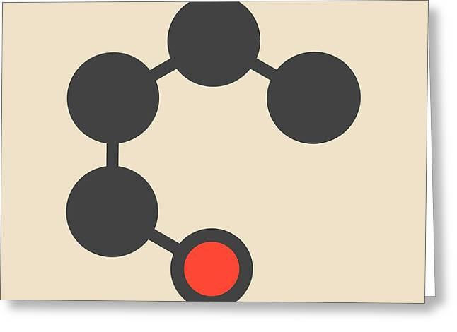 Butanol Molecule Greeting Card by Molekuul