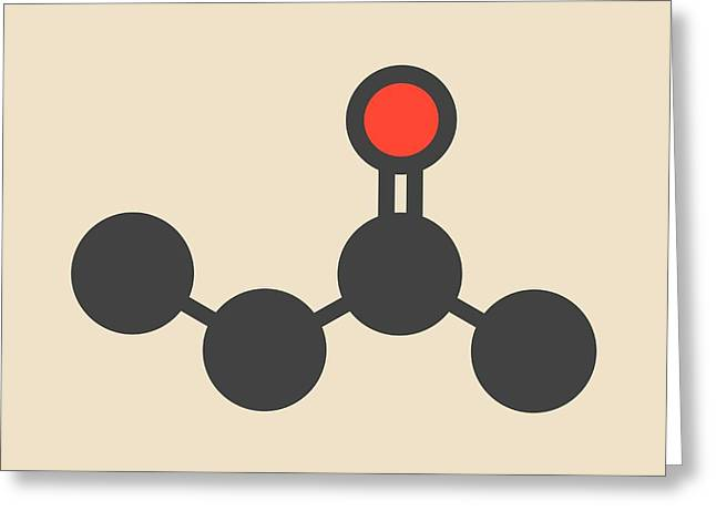 Butanone Molecule Greeting Card
