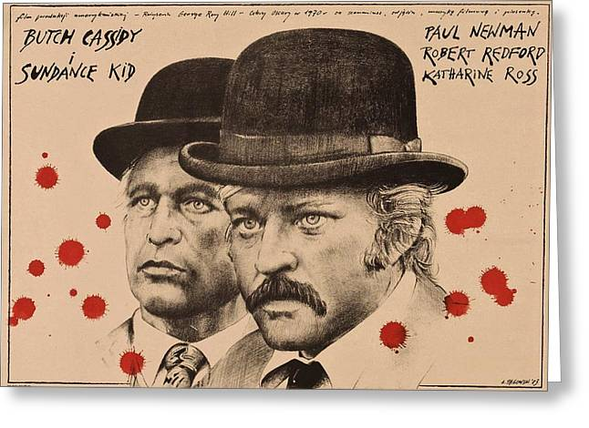 Butch Cassidy And The Sundance Kid Greeting Card by Movie Poster Prints