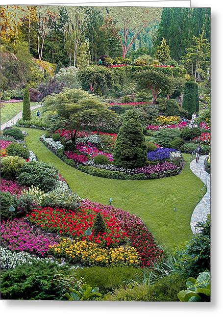 Butchart Gardens Greeting Card