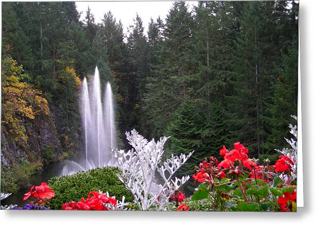 Butchart Gardens Fountain Greeting Card