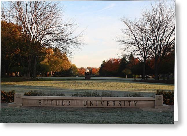 Butler University Mall Greeting Card by Dan McCafferty