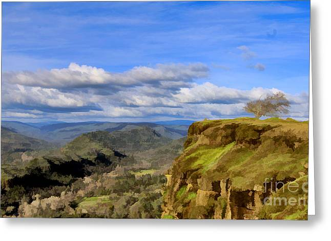 Butte Creek Canyon Overlook Greeting Card