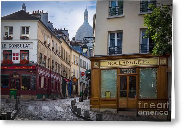 Butte De Montmartre Greeting Card by Inge Johnsson