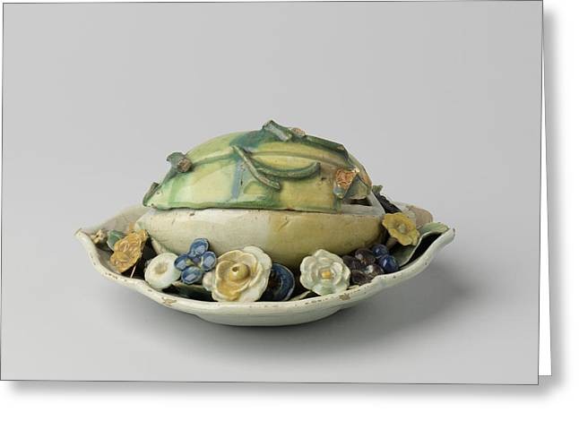 Butter Dish In The Shape Of A Melon, Blankenburg Greeting Card by Quint Lox