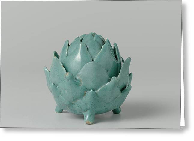 Butter Dish Of Faience In The Shape Of An Artichoke Greeting Card by Quint Lox