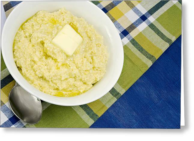 Cheese Grits With A Pat Of Butter Greeting Card by Vizual Studio