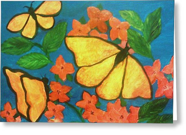 Butterflies Greeting Card by Christy Saunders Church