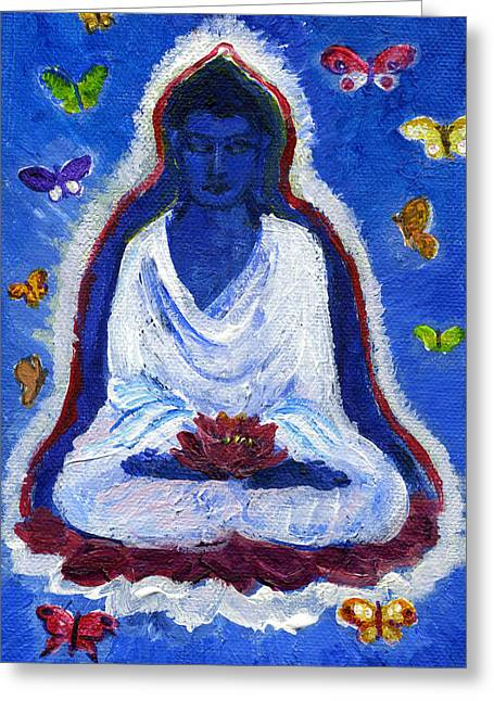 Butterflies Dream Of Buddha Greeting Card