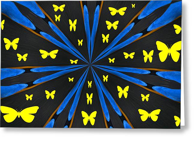 Butterflies Galore Greeting Card by Karol Livote