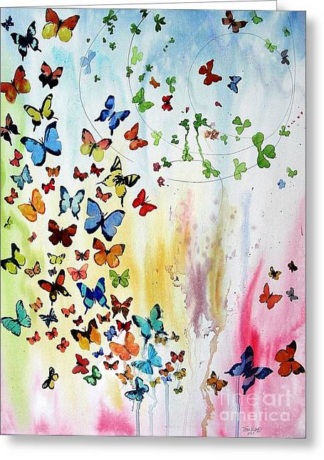 Butterflies Greeting Card by Tom Riggs