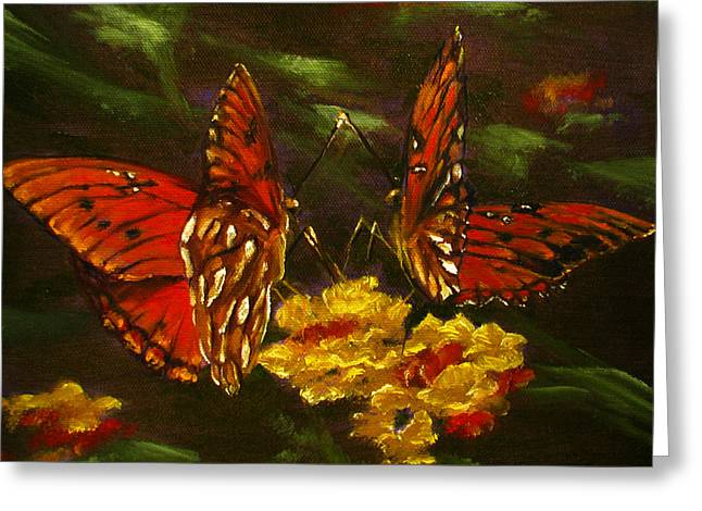 Butterfly Amore Greeting Card by Sherry Robinson