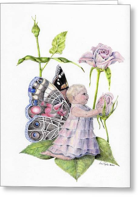 Butterfly Baby Greeting Card by Laurianna Taylor