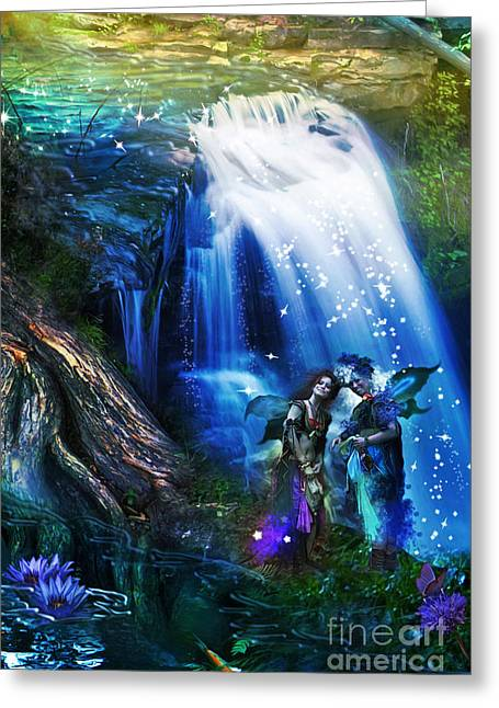 Butterfly Ball Waterfall Greeting Card