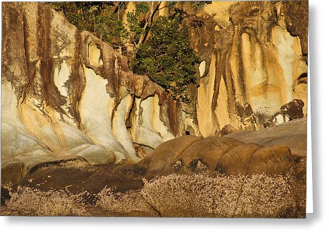 Butterfly Bay Rock Formations Greeting Card