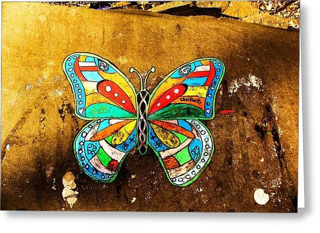 Butterfly Greeting Card by Christian Rooney