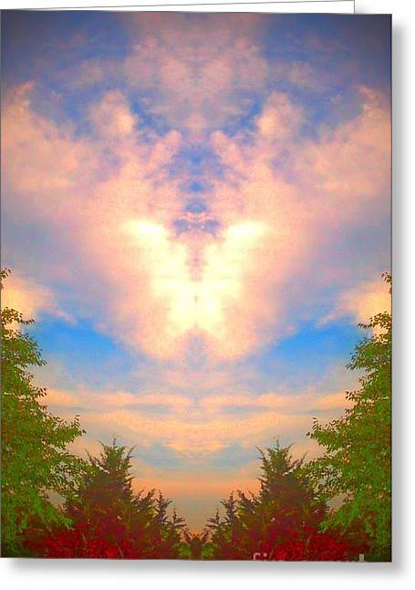 Greeting Card featuring the photograph Butterfly Cloud by Karen Newell