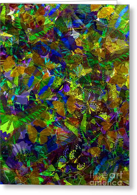 Greeting Card featuring the photograph Butterfly Collage Yellow by Robert Meanor