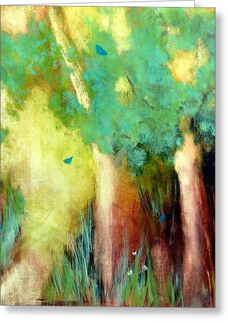 Greeting Card featuring the painting Butterfly Days by Katie Black
