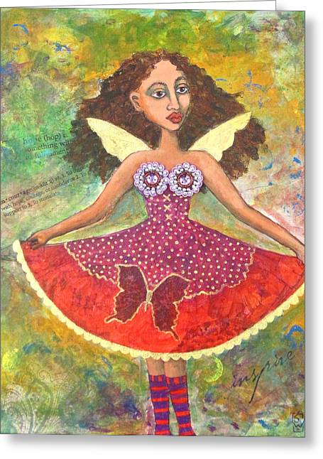 Butterfly Dress Greeting Card by Sharon Woodward