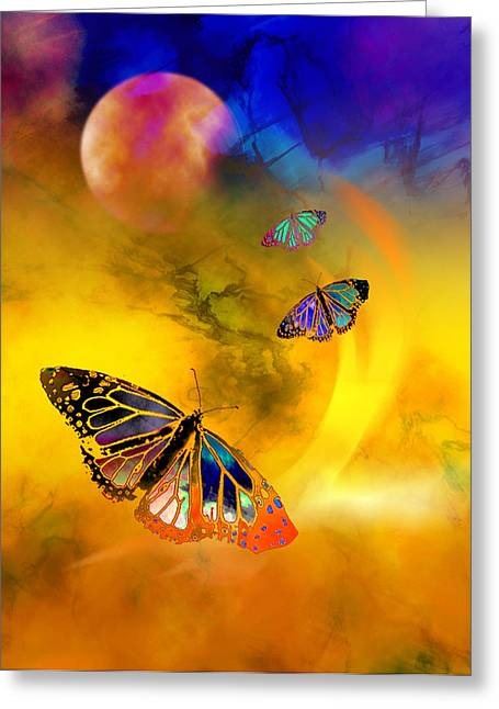 Butterfly Expansion Greeting Card by Bruce Manaka