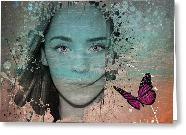 Butterfly Eyes Greeting Card by Isabel Salvador