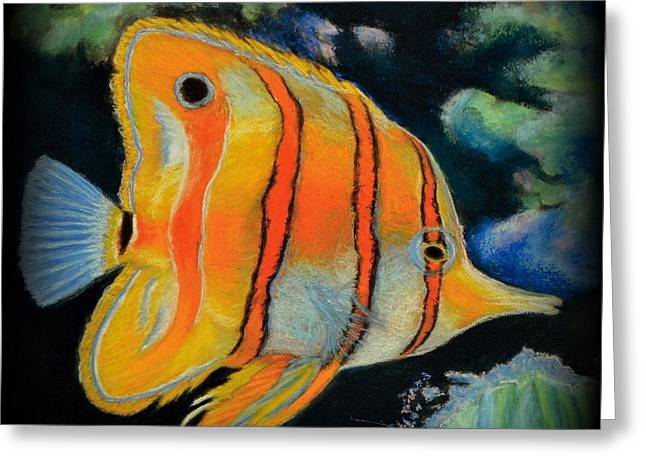 Butterfly Fish Greeting Card by Antonia Citrino