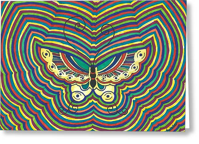 Greeting Card featuring the painting Butterfly Flutter by Susie Weber