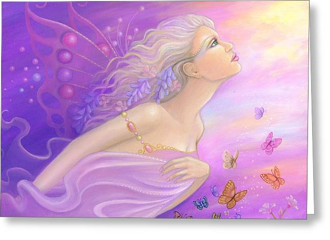 Butterfly Girl Greeting Card by B K Lusk