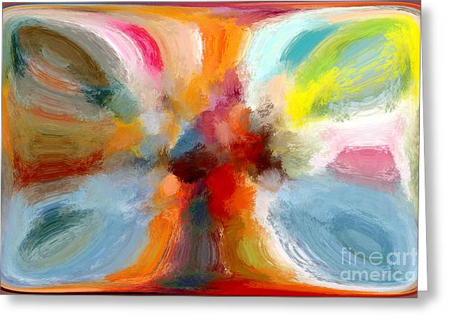 Butterfly In Abstract Greeting Card