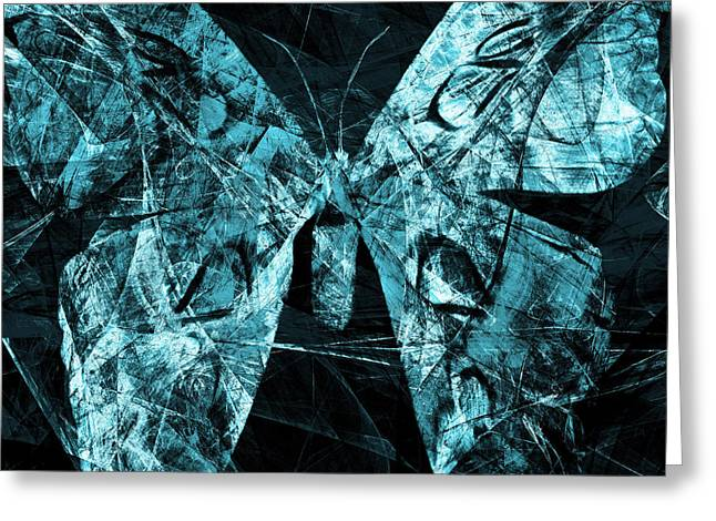 Butterfly In Abstract Dsc2977cy Square Greeting Card