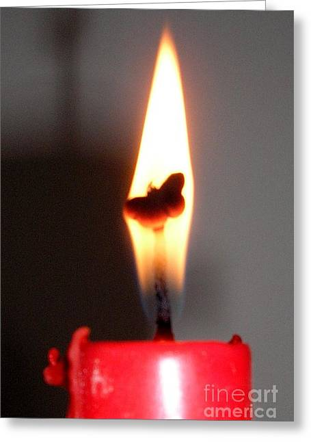 Butterfly Flame Greeting Card