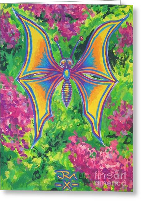 Butterfly Greeting Card by Jedidiah Morley