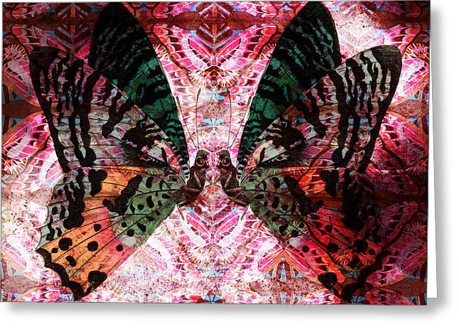 Greeting Card featuring the digital art Butterfly Kaleidoscope by Kyle Hanson