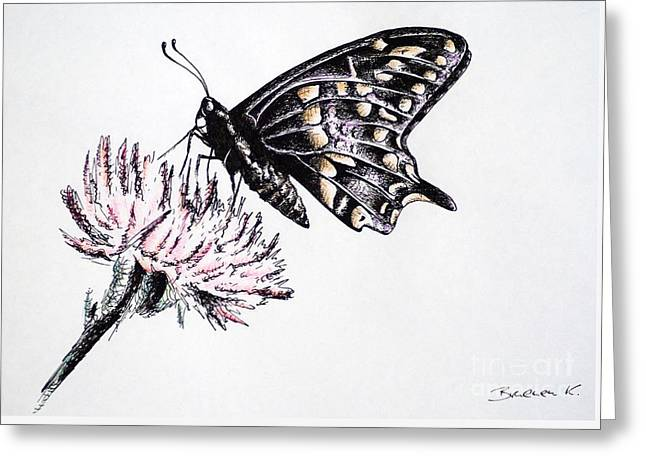 Butterfly Greeting Card by Katharina Filus