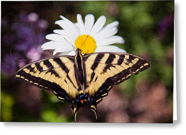 Greeting Card featuring the painting Butterfly Kisses by Omaste Witkowski