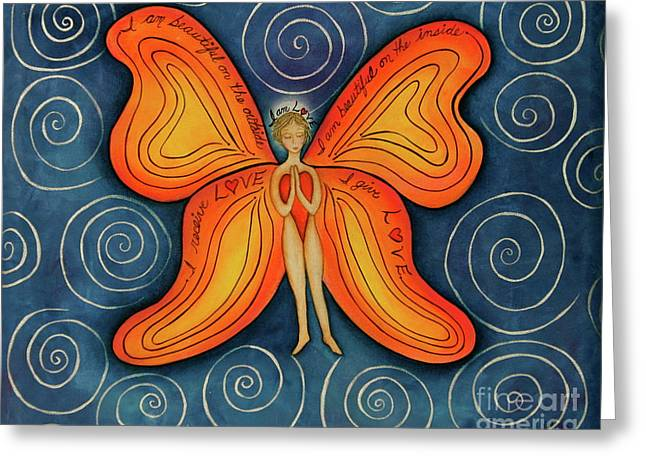 Butterfly Mantra Greeting Card