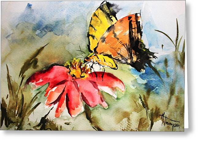 Butterfly   Greeting Card by Mary Spyridon Thompson
