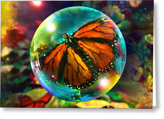 Butterfly Monarchy Greeting Card by Robin Moline