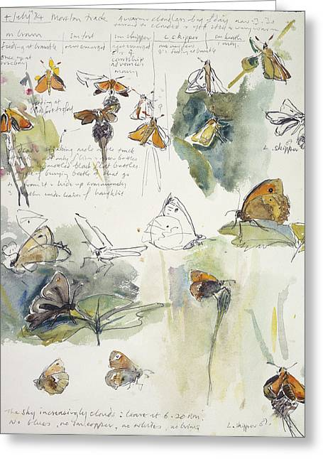 Butterfly Observations Greeting Card
