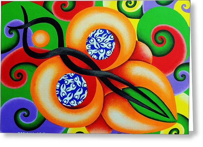 Butterfly Greeting Card by Oswaldo Cevallos