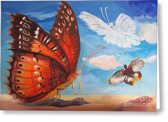 Butterfly Paysage 5 Greeting Card