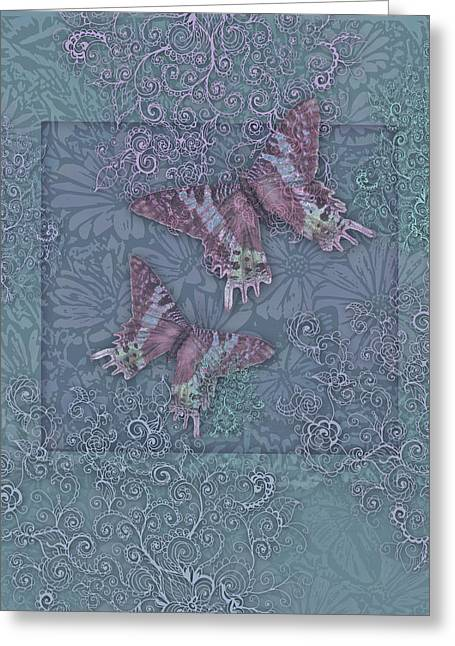 Butterfly Periwinkle Greeting Card by Alixandra Mullins