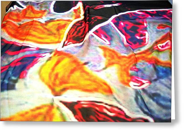 Butterfly Print Scarf 2 Greeting Card by Duygu Kivanc